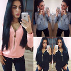 Sexy Women Long Sleeve V Neck Casual Sweatshirt Blouse Loose T-Shirt Jumper Tops