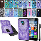 For Microsoft Nokia Lumia 640 ShockProof HYBRID Silicone HARD Case Cover + Pen