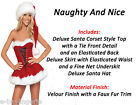 DELUXE MISS SANTA CLAUS Velvet Christmas Party Fancy dress Outfit Costume Mrs