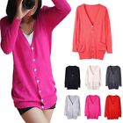 Korean Knitwear Pocket Shell Button Long Section Cardigan Blouse Coat Jacket