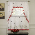 Kyпить Embroidered Ladybug Meadow Kitchen Curtains Choice of Tiers or Valance or Swags на еВаy.соm