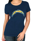 NFL Los Angeles  Chargers Majestic Skinny Post Women's T-Shirt-Navy Blue $19.95 USD on eBay