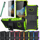 Heavy Duty Shockproof Hard Case Stand Cover For Microsoft Nokia Lumia 550 + Film