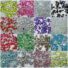 500pcs 2mm-6mm 14 faceted cut crystal resin round rhinestones flatback mix size