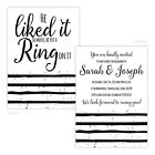 Personalised engagement party invitations HE PUT A RING ON IT BLACK WHITE FREE E