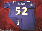 #52 RAY LEWIS BALTIMORE RAVENS HOF PURPLE NFL SEWN STITCHED JERSEY - CHOOSE SIZE