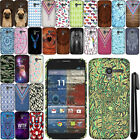 For Motorola Moto X Phone XT1058 PATTERN HARD Back Case Phone Cover + Pen