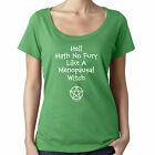 Menopausal Witch Scoop Neck Top Funny Pagan Wiccan T-Shirt by Cheeky Witch®
