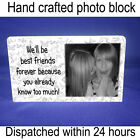 """Personalised 6x4"""" plaque with photo best friend forever unique gift"""