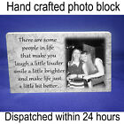 """Personalised 6x4"""" plaque with photo best friends friendship quote unique gift *"""