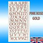 LETTERS NUMBERS STICKERS Silver Rose Gold self Adhesive Glitter Alphabet Craft ✔