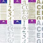 Stickers Glitter Diamante Numbers Favour Embellishment personalise cards