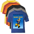 Fireman Sam Style Personalised T-Shirt Age Size Top Kids Boys cute Gift Idea New