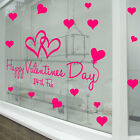 Happy Valentines Day Wall & Window Stickers Decals Shop Window Display Love A316