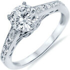Sterling Silver Shiny Clear CZ Engagement Wedding Promise Love Ring Size 3-11