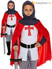 Boys English Knight Fancy Dress Costume Child Crusader St George Medieval Outfit