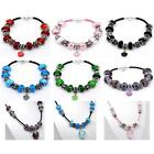 Ladies Womens Leather Starter Charm Bracelets Charms Beads Necklaces in Gift Bag