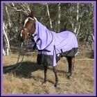 LOVE MY HORSE 5'0 - 6'9 1200D Reflective Fleece Lined Turnout Combo Rug Purple