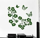 Wall Vinyl Decal Flower Branch Tree Butterfly Nature Amazing Decor Bedroom z3917