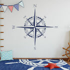Compass Rose Vinyl Wall or Ceiling Decal map home decor tran
