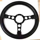 1970-1981 TRANS AM FORMULA STEERING WHEEL NEW BLACK WITH BLACK SPOKES FIREBIRD