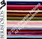 PER METRE Berisfords Luxury Velvet Ribbon 9mm 16mm 22mm 36mm 50mm CHOOSE SHADE