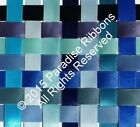 2 METRES Berisfords Double Satin Ribbon 14 BLUE SHADES - Choose WIDTH & SHADE