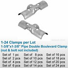 "1-3/8"" Chain Link Fence Line Rail Double Boulevard Clamp X Bracket Pipe Fitting"