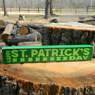Happy St. Patrick's Day - Wooden Shelf Sitter - 6 Different Color Combinations!