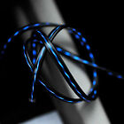 Black Blue Visible Flowing LED Light USB Data Sync Charging Charger Cable Cord