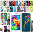 For Samsung Galaxy S5 G900 TPU SILICONE SKIN Soft Protective Case Cover + Pen