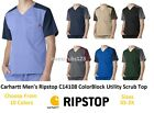 Carhartt Men's Ripstop Utility Color Block Scrub Top C14108 Choose Size & Color