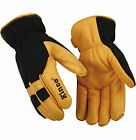Kinco Pro Lined Deerskin Cold Weather Gloves Work Ski Snowmobile 101HK  3 Sizes