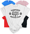 PAMPERED GOLDEN RETRIEVER'S SERVICE STAFF T-SHIRT Funny Dog Lover Gift Labrador
