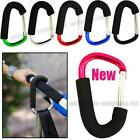 x2 Coloured Large Buggy Mummy Clip Pram Pushchair Shopping Bag Hook Carabineer