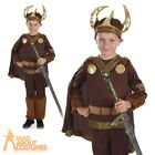 Boys Viking Costume Child Saxon Warrior Book Week Day Fancy Dress Outfit Kids