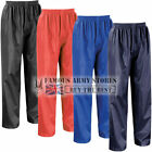Childrens Kids Breathable Waterproof Rain Over Trousers Bottoms Storm Wet Pants
