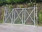 FABRICATED METAL MESH GATES SOLD AS A PAIR