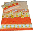 Duvet cover+Pillowcase Baby/Toddler/Junior for cot, cot bed - Orange Giraffe