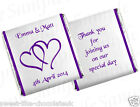 ** 60 PERSONALISED CHOCOLATE WEDDING/ANNIVERSARY FAVOURS - HEARTS **