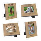 Personalised Laser Engraved Wood Photo Frame Pets Remembrance Gift