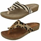 Ladies Leather Collection Toe Post Sandals F10500