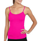 lei Junior Seamless Scoop Neck Cami Top Adjustable Strap Pink Black S/M L/XL NEW