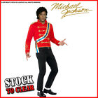 Fancy Dress MICHAEL JACKSON MILITARY Jacket Red RRP £29.95