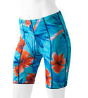 Aero Tech Designs Womens Turquois Tropical Printed Cycling Bike Shorts US Made
