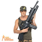 Inflatable M16 Machine Gun Army Soldier Fancy Dress Costume Toy Rifle
