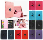Canvas 360 Degree Rotating Magnetic  Smart Stand Case Cover for Apple iPad 2 3 4