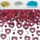 Vintage Wedding Hearts Table Confetti Table Decoration Turquoise,Silver,Gold,Red