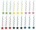 Stars and Swirls Hanging Decorations - pink blue yellow green red black