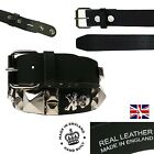 Punk Studded Gothic Real Leather Studded Skull Crossbone Fitting Mens Jean Belt